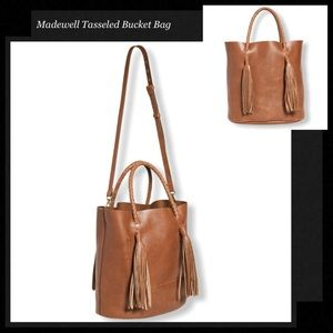 MADEWELL Tasseled Crossbody Bucket Bag
